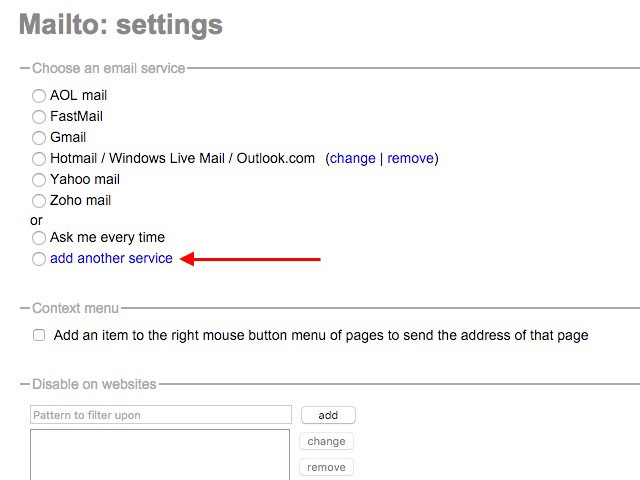 chrome-mailto-extension-settings